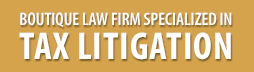 Boutique law firm specialized in tax litigation